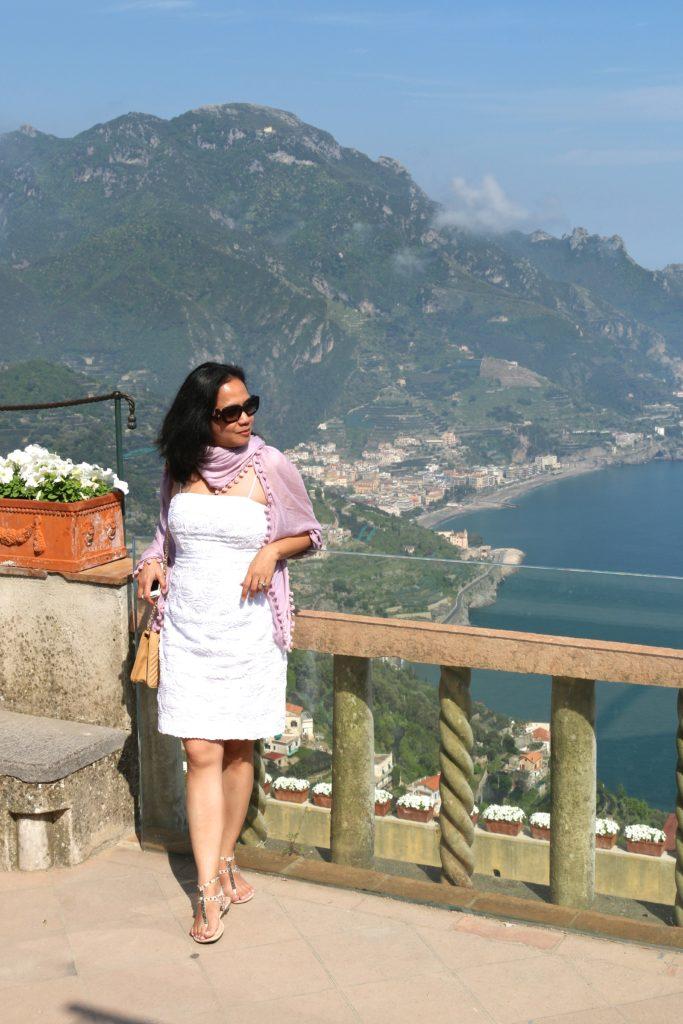 enjoying the view in Ravello