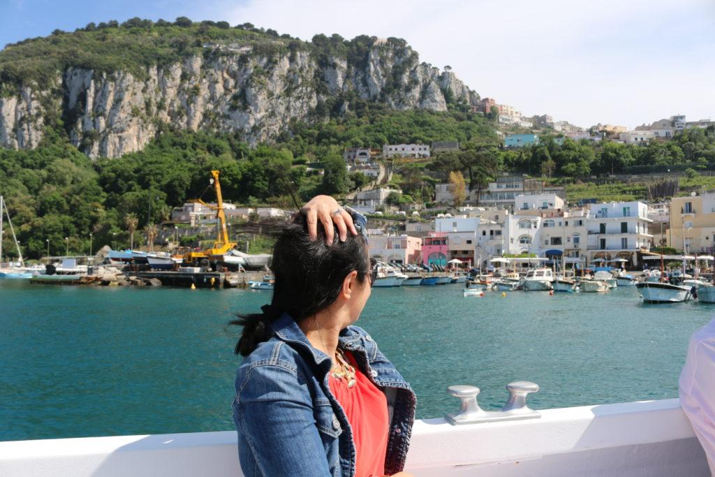 boat trip in Capri