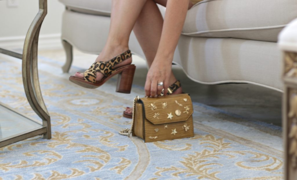 Sam Edelman Leopard Sandals and Zara crossbody bag