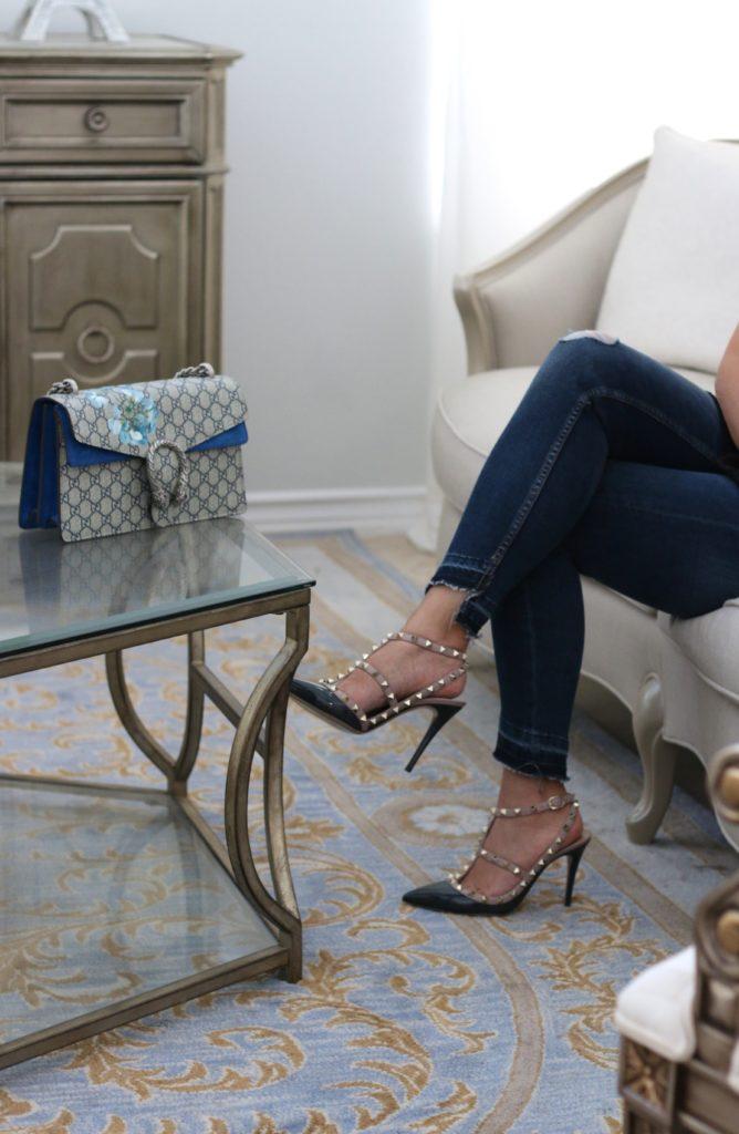 Valentino Rockstud Heels and Gucci Dionysus Blooms