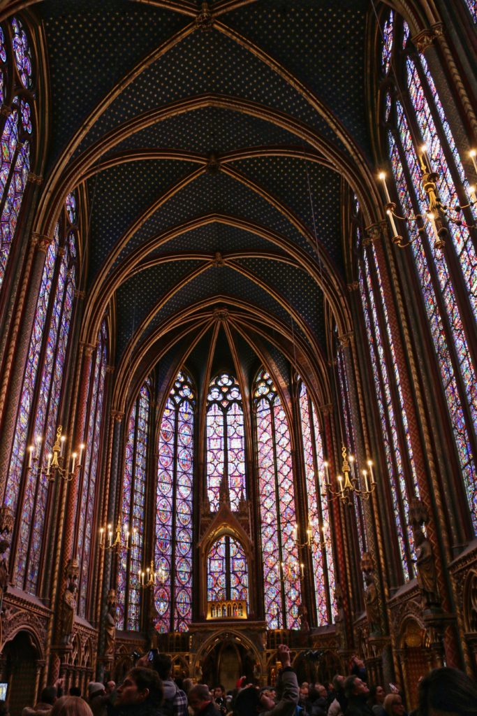 Stained windows inside Sainte-Chapelle