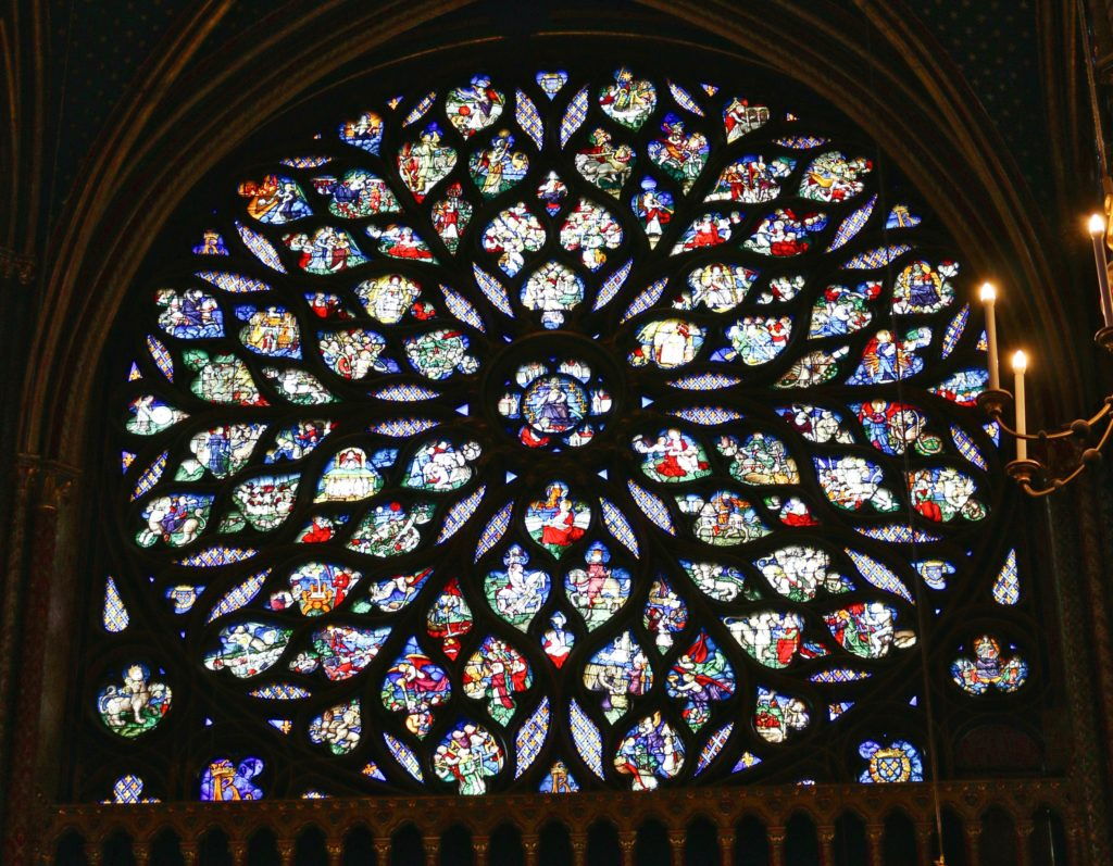 The Rose Window in Sainte-Chapelle