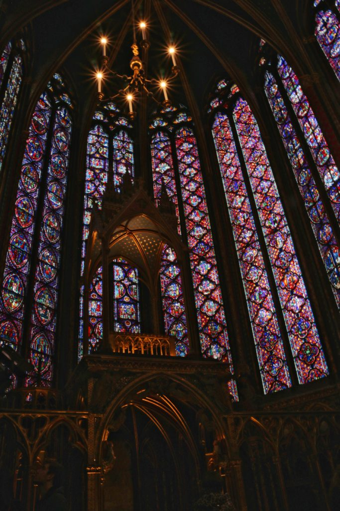 Stained glass windows in Sainte-Chapelle