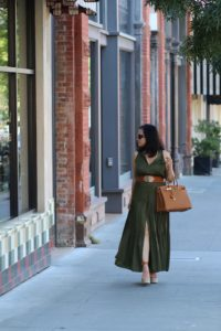 Hermes Birkin Gold 35 and Tan Chloe wedge shoes by My Life and My Style