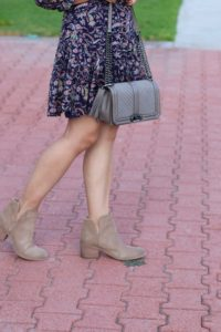 Hinge brown booties Rebecca Minkoff taupe cross body bag by My Life and My Style